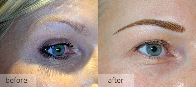 Eyebrow enhancements - semi permanent