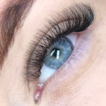 Russian volume lash extensions beauty treatment