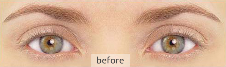 LVL lashes - before