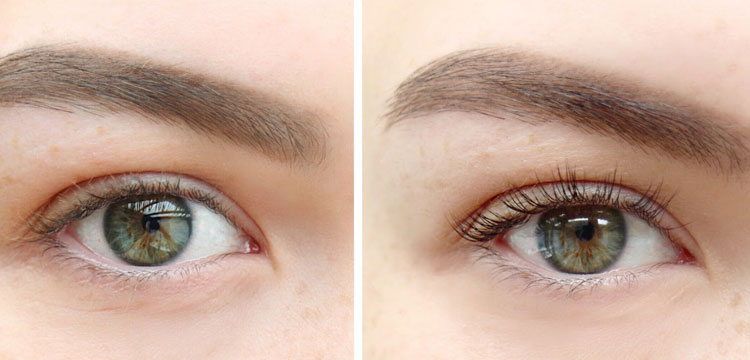 LVL lash extensions - before and after